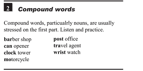 English pronunciation - unit 13 - 2 - Word stress - compound words