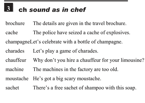 English pronunciation - unit 6 - 3 - Pronunciation of ch - ch sound as in chef